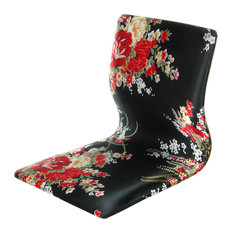 oriental furniture tatami meditation backrest chair black and red hibiscus living room chairs asian style furniture korean antique style 49