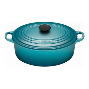 Le Creuset 5-Quart Signature Oval French Oven, Caribbean
