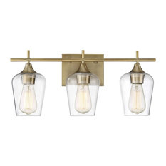 Savoy House Octave 3-Light Bath Bar, Warm Brass