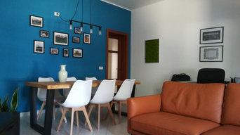 Living room con tavolo da pranzo e area conversazione / tv
