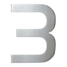 "Large Bold Modern Address Number, 15"" South Beach Aluminum 3"
