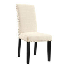 modway modway parcel dining fabric side chair beige dining chairs