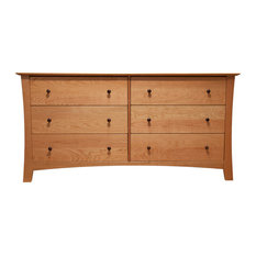Armstrong 6 Drawer Double Dresser Natural Cherry