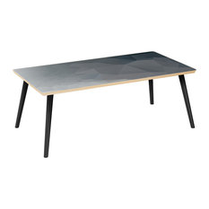 Brixton Flare Coffee Table - Midnight Topography