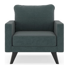 Kolby Armchair Oxford Weave, Ocean Gray
