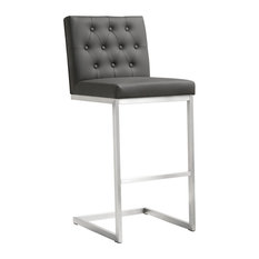 Helsinki Grey Stainless Steel Barstool - Set Of 2