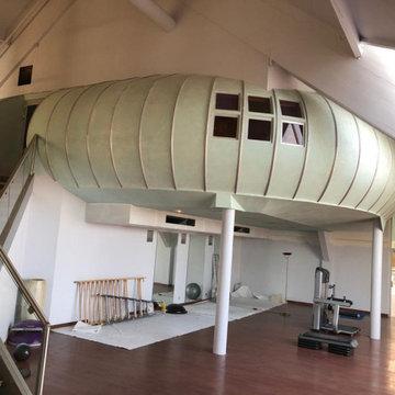 Salle de yoga en inclusion d'une salle de cardio training