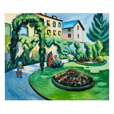 """""""The Macke Garden at Bonn (Gartenbild)"""", Unframed Loose Canvas"""