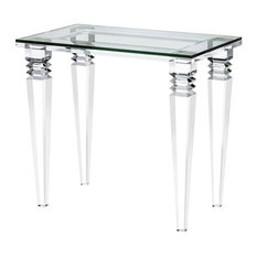 Savannah Bedside Table Clear Clear Glass
