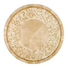 "Mosaica Mosaic Stone Round Coffee Table, 24"""