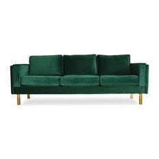 Edloe Finch Furniture Co. - Lexington Mid-Century Modern Velvet Sofa - Sofas