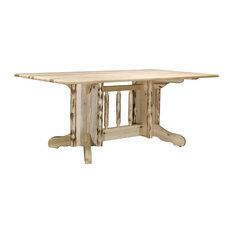 Montana Collection Double Pedestal Dining Table Clear Lacquer Finish