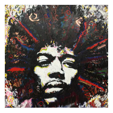 "Jimi Hendrix Large Wall Art 36""x36"" by Matt Pecson"