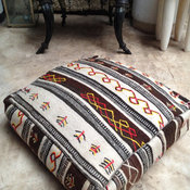 Moroccan Kilim Pouf Cover by Bazaar Living