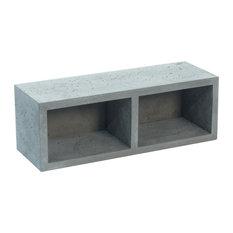 Concrete Wall Shelf, Double