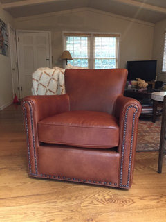 Any Reviews On Pottery Barn Irving Swivel Leather Chair