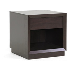 Baxton Studio - Baxton Studio Girvin Brown Modern Accent Table and Nightstand - Nightstands And Beds