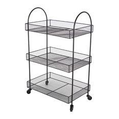 Metal Black Basket Cart, 20x32