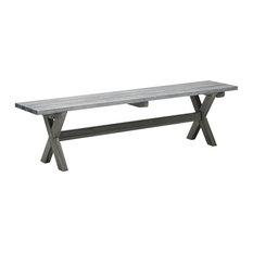 Shabby Chic Bench, Grey