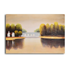 """Hand Painted """"Bridge To Home"""" Oil Painting"""