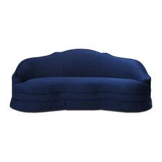 Pianosa Upholstered Camelback Sofa, Navy Blue