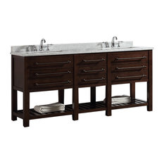 Harry Double Vanity, Java Brown, 72""