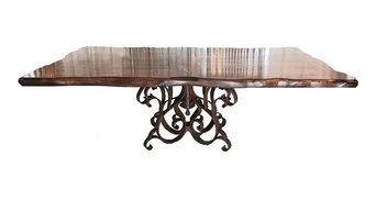 Luxurious rectangular Dining Table With Mesquite Wood Top