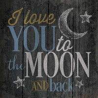 """Love You To The Moon And Back."" Pallet Wall Art, 14""x14"""
