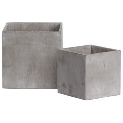 Industrial Outdoor Pots And Planters by Urban Trends Collection