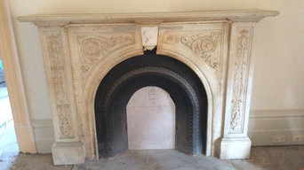 Restoration of Victorian antique marble fireplace with floral design
