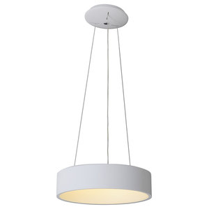 Circular Dimmable LED Pendant Light, White