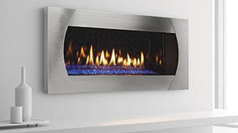 Linear Wall Direct Gas Fireplaces Modern Flat Sleek
