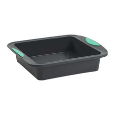 Trudeau Pro Mint and Gray Structure Silicone 8 Inch Square Cake Pan
