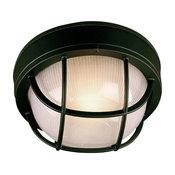 Craftmade Bulkhead Z395-05-NRG 1-Light Flush Mount, Black, Large