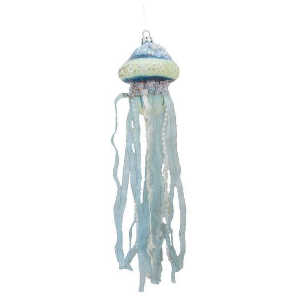 December Diamonds Jellyfish w/ Jewels Christmas Holiday Ornament Glass