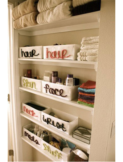 Awesome Eclectic Bathroom storage idea