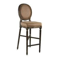 Medallion Bar Stool Limed Charcoal Oak