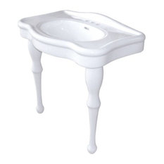 "Kingston Brass VPB5324 Fauceture 31-7/8"" Oval Pedestal Vitreous China Bathroom"