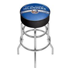 NHL Chrome Barstool With Swivel New York Islanders
