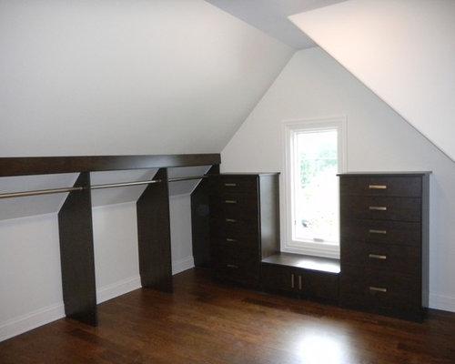 Slanted Ceiling Closet | Houzz
