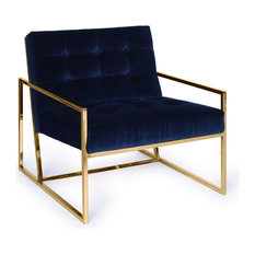 Pasargad's Firenze Collection Loungechair, Navy