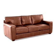 Avenue 405 Drake Leather Down Blend Sofa, Chestnut