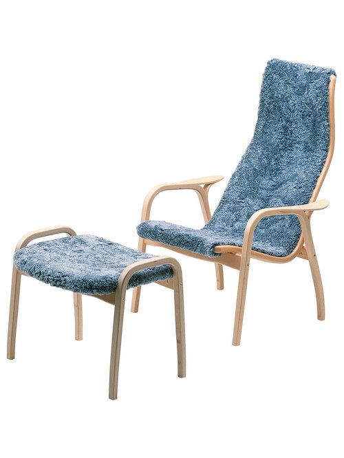 Lamino Set Fårskinn/Bokträ, Graphite - Hvilestole