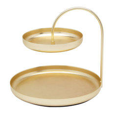 Poise 2-Tier Accessory Holder, Gold