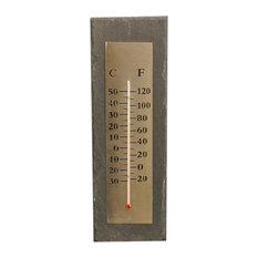 Fallen Fruits Rectangular Slate Thermometer