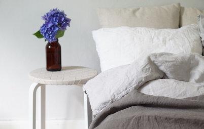 DIY: Vom Ikea-Hocker zum schicken Nachttisch mit Ledergeflecht
