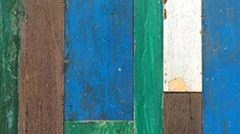 トロピカルチークパネル ブルー・グリーン
