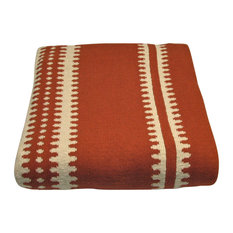 Cotton Margarita Throw, Persimmon and Natural