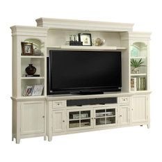 Parker House Tidewater 72-inch Console Entertainment Wall In White