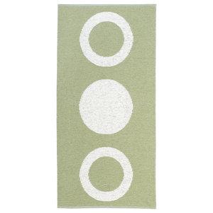 Circle Woven Vinyl Floor Cloth, Olive, 150x200 cm